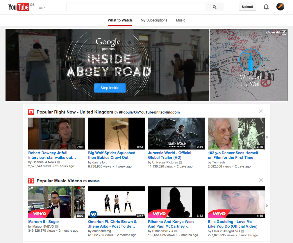 Youtubes Design 2015